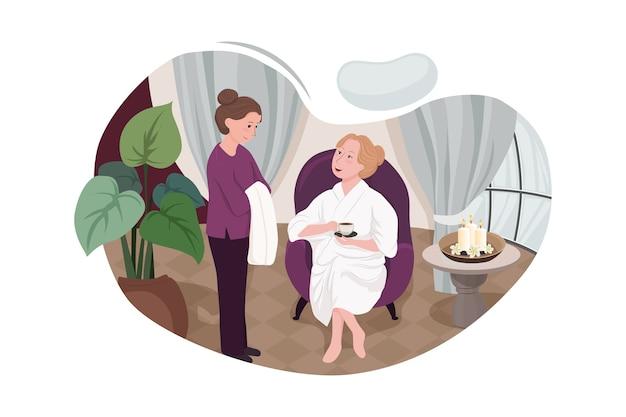Клиенты, получающие услуги в спа салонах