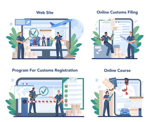 税関職員のオンラインサービスまたはプラットフォームセット