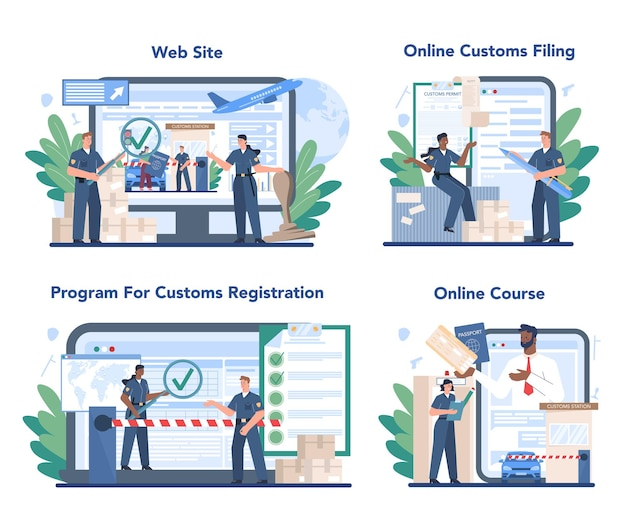 Customs officer online service or platform set