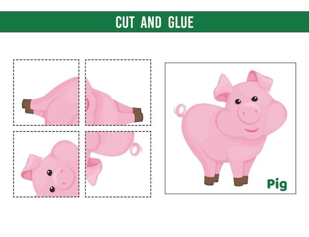 Вырежьте и склейте лист. игра для детей.