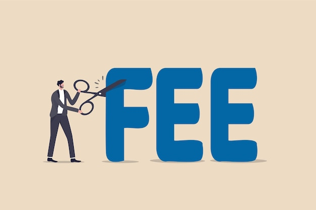 Cut fee reduce service charge to be paid illustration