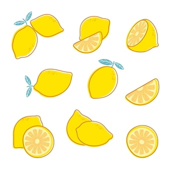 Нарезать свежий лимонный набор