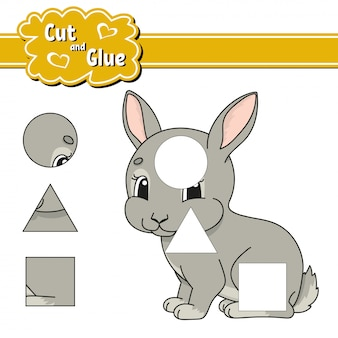 Cut and glue. education developing worksheet. activity page. game for children.