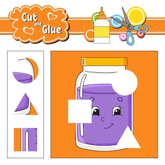 Cut and glue. education developing worksheet.