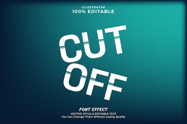 Cut off editable text effect,premium