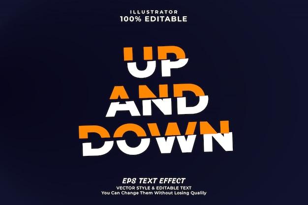 Cut off text effect-