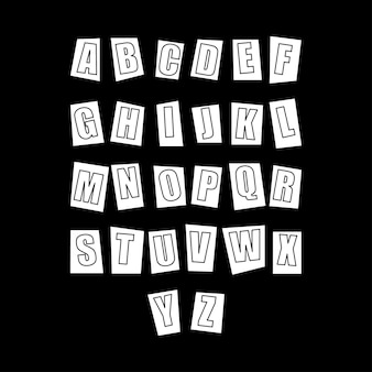 Cut out alphabet letters for decorative projects