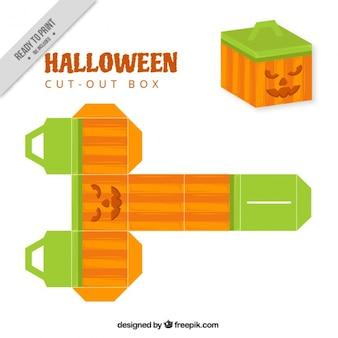 Cut out box of halloween pumpkin