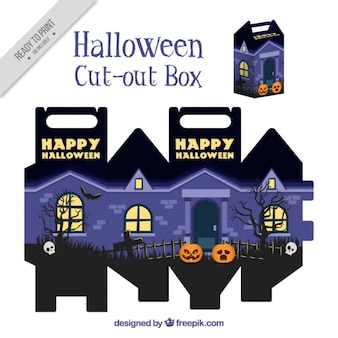 Cut out box of haunted house