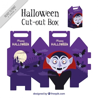 Cut out box of vampire