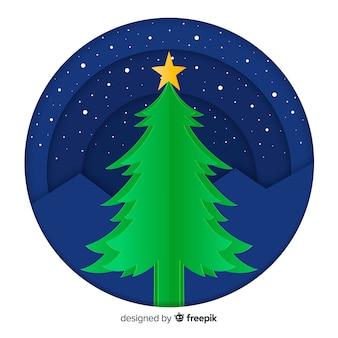 Cut out christmas tree background