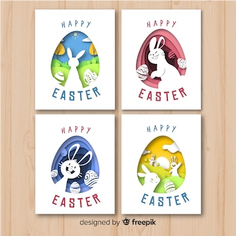 Cut out easter card pack