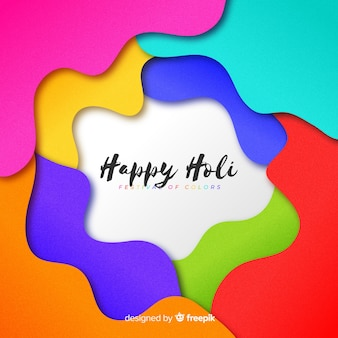 Cut out holi festival background