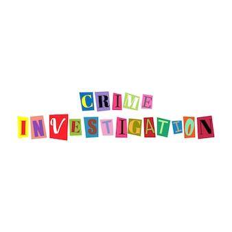 문자를 잘라내고 여러 가지 빛깔의 abc 알파벳을 콜라주