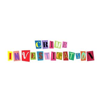 Cut out letters and collage abc alphabets in multicolors