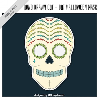 Cut out mexican skull mask