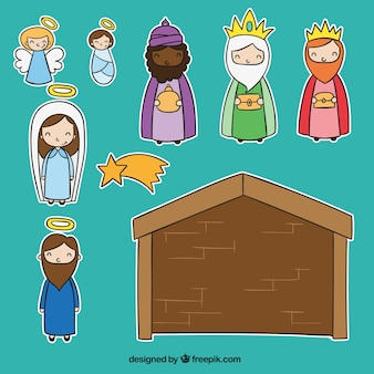 Cut-out nativity scene
