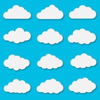 Cut out paper clouds