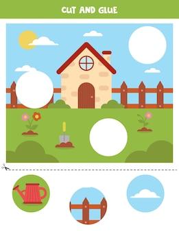 Вырежьте картинки и приклейте их в нужные места. рабочий лист spring.