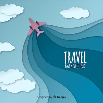 Cut out plane travel background