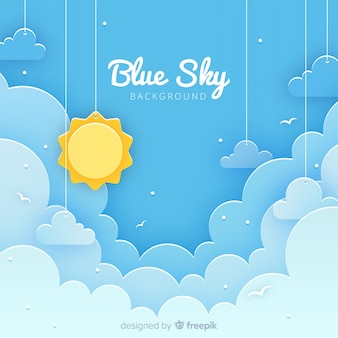 Cut out sky background