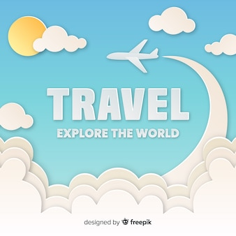 Cut out sky travel background