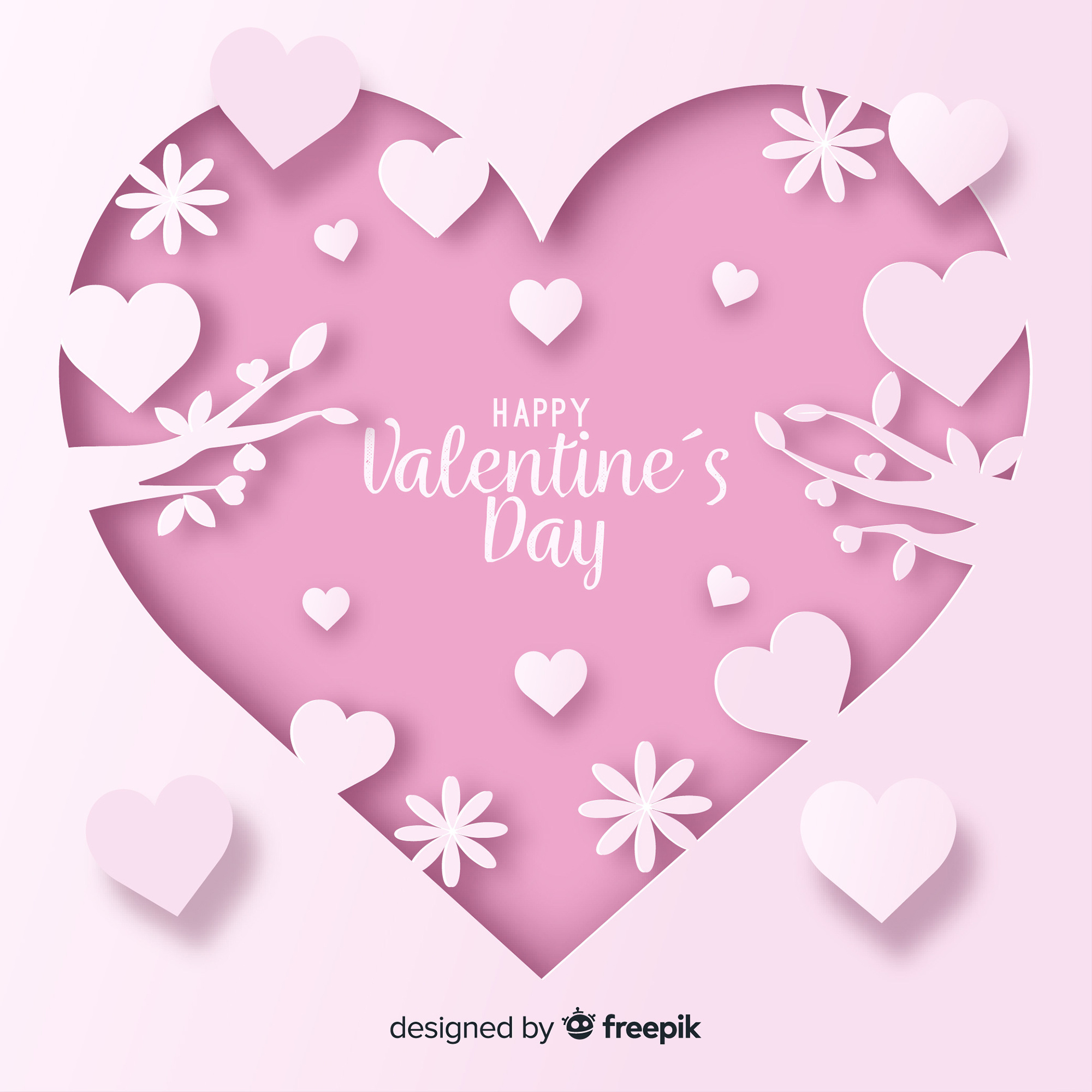 Cut out valentine's day background