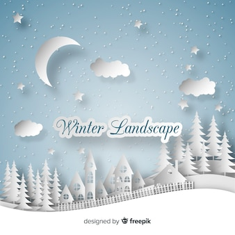 Cut out winter landscape