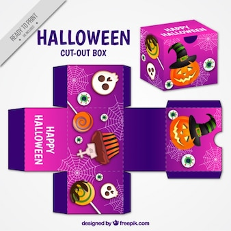 Cut out with halloween elements