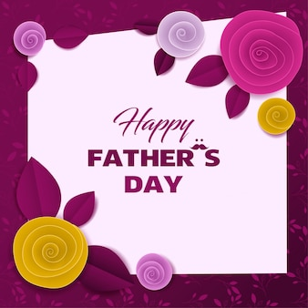 Cut paper floral card fathers day