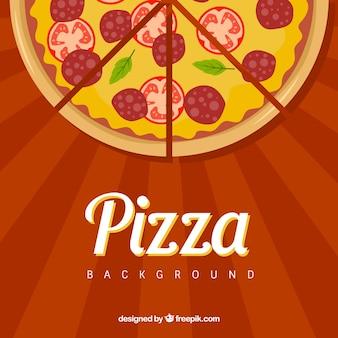 Cut pizza background