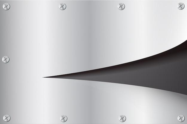 Вырезать пластину разрыва металла и пространства черный фон