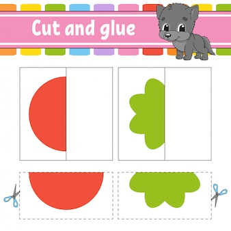Cut and play game for kids