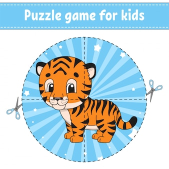 Cut and play. logic puzzle for kids. education developing worksheet. learning game. activity page.