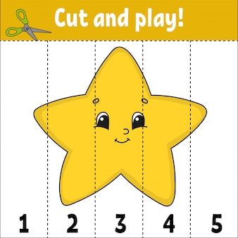 Cut and play worksheet star