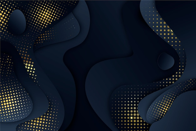 Cut shapes black paper background
