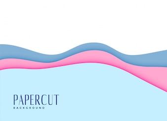 Cut soft baby colors papercut background