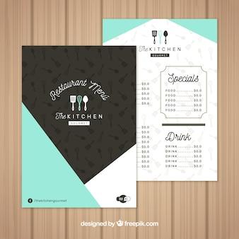 Cute abstract menu