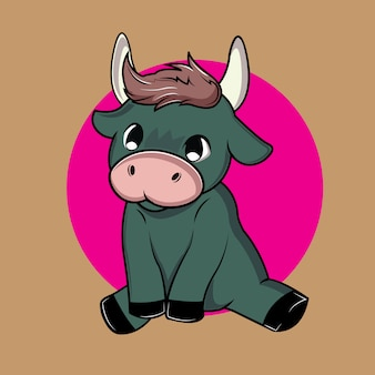 Cute and adorable bull kid