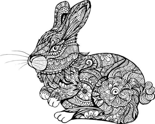 Cute adorable easter bunny rabbit farm animal