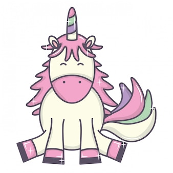 Cute adorable unicorn fairy character