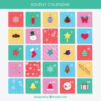 Simpatici calendari dell'avvento