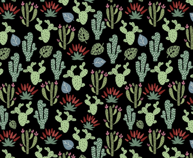 Cute africa seamless pattern