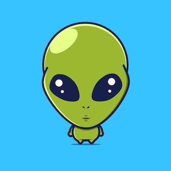 Cute alien characters kawaii designs