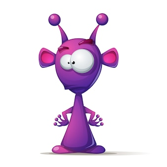 Cute alien with big eye and ear