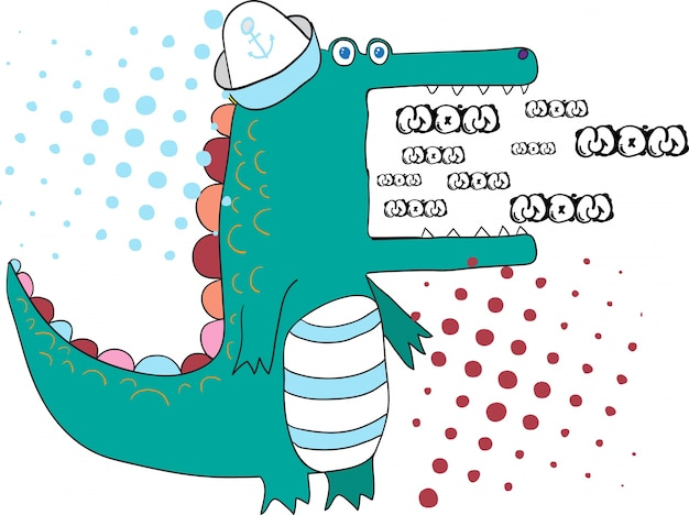 Cute alligator