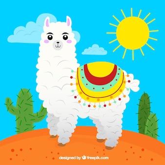 Cute alpaca background