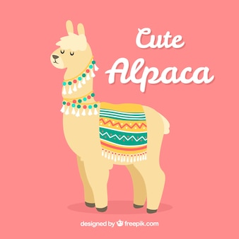 Cute alpaca background