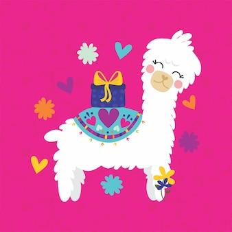 Cute alpaca gift