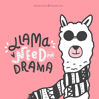 Cute alpaca with quote